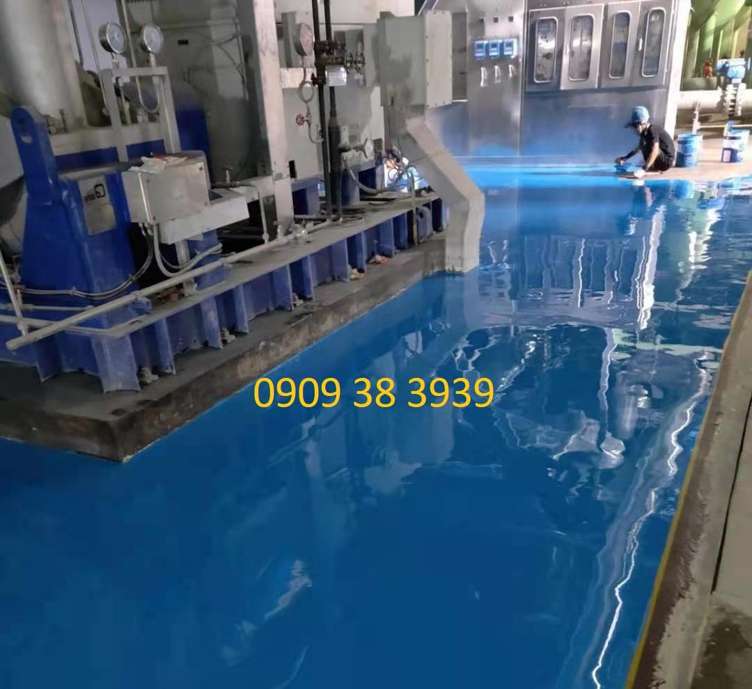 Sơn nền epoxy nhà máy nước đá Tấn Phát
