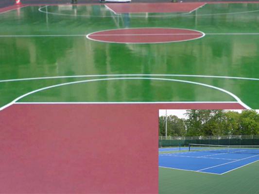 Sơn nền sơn sàn epoxy cho sân thể thao
