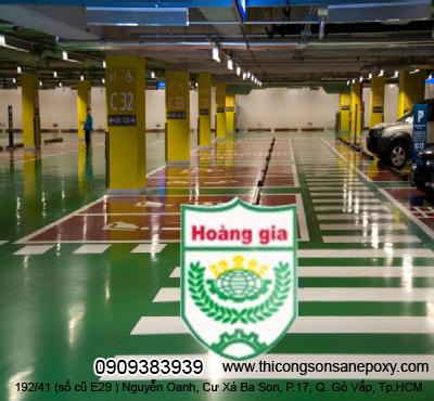 Công trình thi công sơn sàn