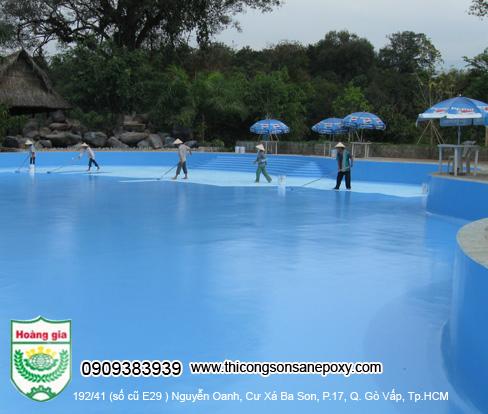 Công Trình sơn bể bơi